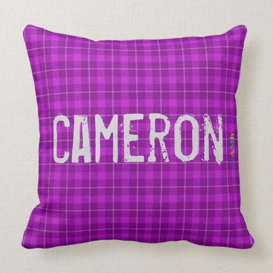 HAMbWG Vanity Pillow - Add name - Violet Plaid