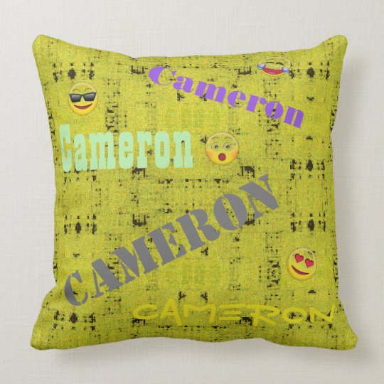 HAMbWG Vanity Pillow - Add name - Yellow Distresse