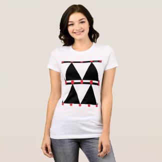 HAMbWG  White T -Shirt - Yin Yang Christmas Trees T-Shirt