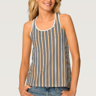HAMbWG - Women's Tank Top - Blk/Wh/Or Stripes