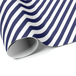 HAMbWG Wrapping Paper - Navy/White Stripe