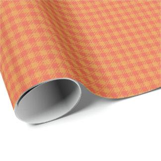 HAMbWG Wrapping Paper - Orange Sherbert Tartan