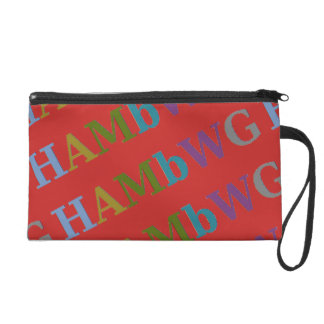 HAMbWG - Wristlet  Custom Color HAMbWG Logo Bag