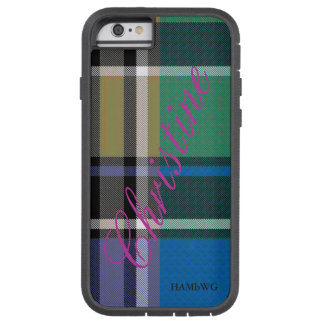 HAMbWG  Xtreme Phone Case Bright Plaid w Lavender