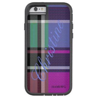 HAMbWG  Xtreme Phone Case Bright Plaid w Violet
