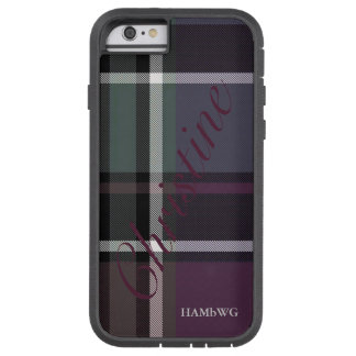 HAMbWG  Xtreme Phone Case - Soft Amethyst Plaid
