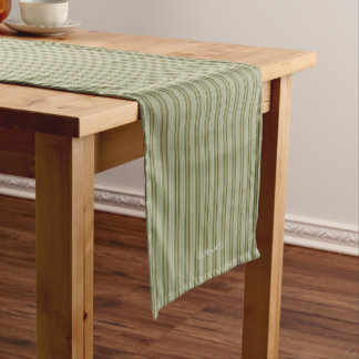 "HAMbyWG - 14"" X 72"" Table Runner - Olive Stripe"