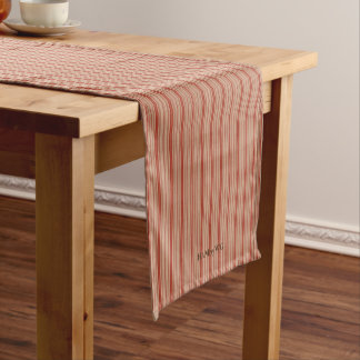 """HAMbyWG - 14"""" X 72"""" Table Runner -Red Stripe"""