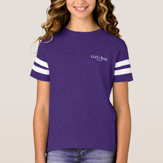 HAMbyWG - 9 Colours Girl's Rule - Girls'Jersey T-Shirt
