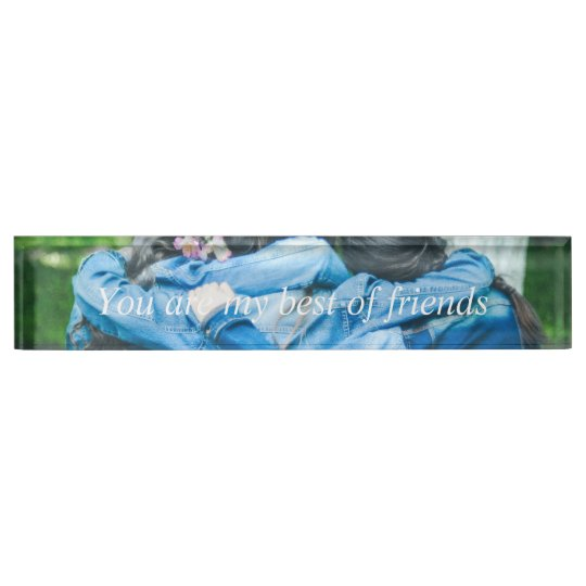 HAMbyWG - Acrylic Desk Nameplate - Best of Friends