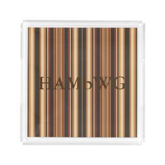 HAMbyWG -  Acrylic Tray - Caramel/Brown/Bk Stripes