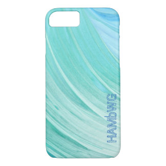 HAMbyWG - Apple IPhone Case - Aqua Mint Swirl