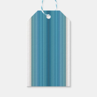 HAMbyWG - Aquamarine White Gradient Stripe Gift Tags