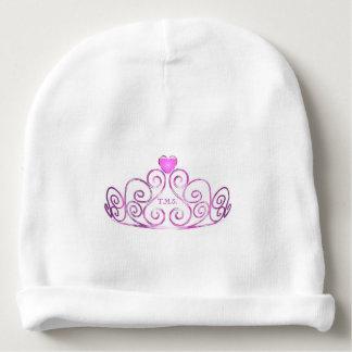 HAMbyWG Baby  Beanie - Pink Tiara w Initials Baby Beanie