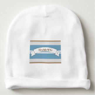 HAMbyWG Baby Cotton Beanie - Boy's Blue Stripe Baby Beanie