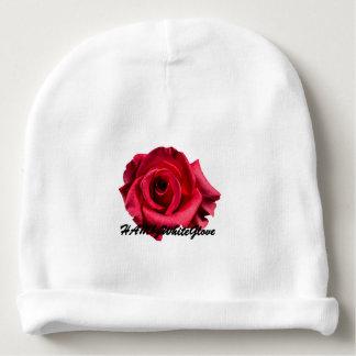 HAMbyWG Baby Cotton Beanie - Red Rose Logo Baby Beanie