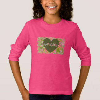 HAMbyWG Basic Long Sleeve T-Shirt - Olive Heart 8C