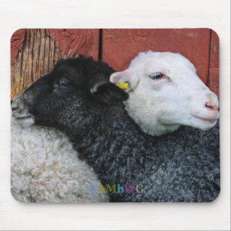 HAMbyWG - Black Sheep White Sheep Mouse Pad