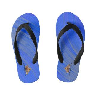 HAMbyWG - Boys Flip-Flops Bright Blue Swirl Kid's Flip Flops