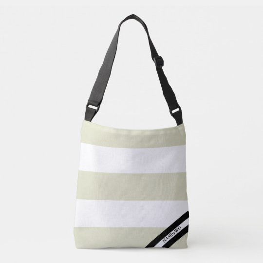 HAMbyWG - Canvas Shoulder Bag - Eucalyptus & White
