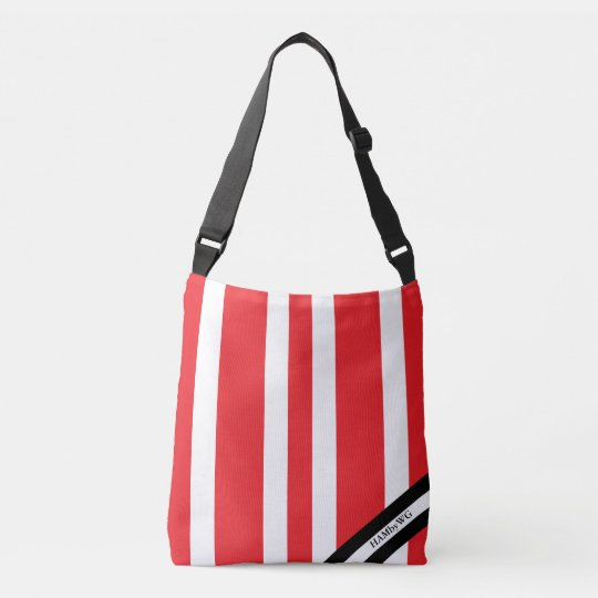 HAMbyWG - Canvas Shoulder Bag - Red & White