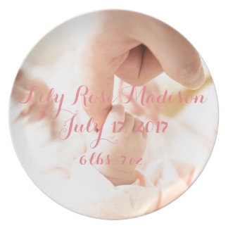 HAMbyWG Commemorative Melamine Plate - New Baby