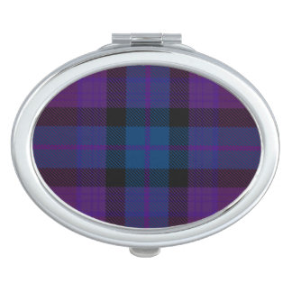 HAMbyWG - Compact Mirror - Burgundy Purple Plaid