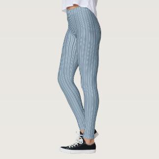 HAMbyWG - Compression Leggings - Blue Stripes