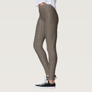 HAMbyWG - Compression Leggings - Brown Fine Stripe