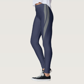 HAMbyWG - Compression Leggings - Navy & Gray