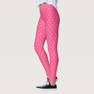 HAMbyWG - Compression Leggings - Pink w White Polk