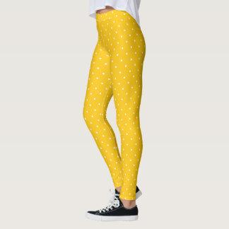 HAMbyWG - Compression Leggings - Yellow White Polk