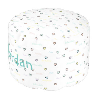 HAMbyWG - Cotton Pouf Chair - Baby hearts