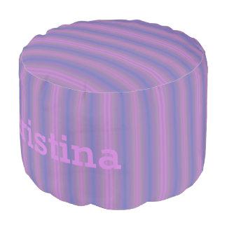 HAMbyWG - Cotton Round Pouf Chair - Violet Purple