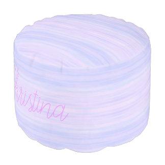 HAMbyWG - Cotton Round Pouf Chair - Violet Wash
