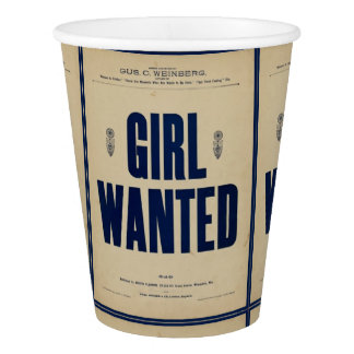 HAMbyWG - Custom Paper Cup - Girl Wanted Vintage