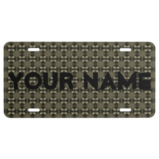 HAMbyWG Customizable Silver Look License Plate