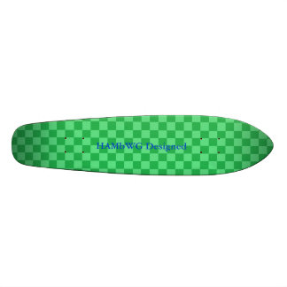 HAMbyWG Designed - Saketeboard - Green Checker Skate Board Deck