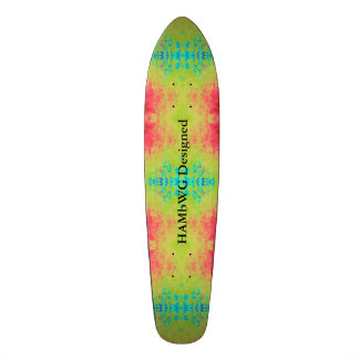 HAMbyWG Designed - Tye Dyed Green PInk Blue Skateboards
