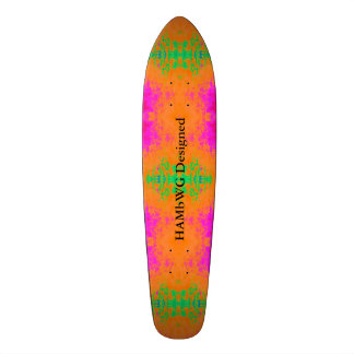 HAMbyWG Designed - Tye Dyed Orange Pink Green Skate Deck