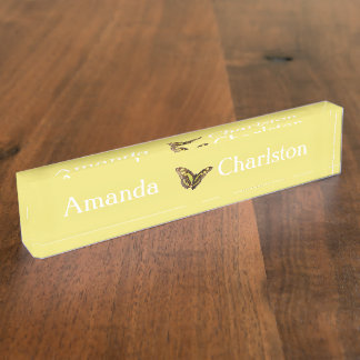 HAMbyWG - Desk Name Plate -Butter Yellow