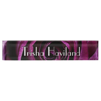 HAMbyWG Desk Name Plate - Classic Raspberry Rose
