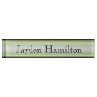 HAMbyWG - Desk Name Plate - Green & Black Gradient