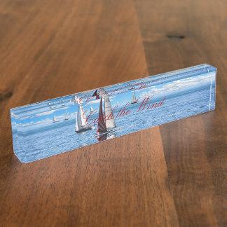 HAMbyWG Desk Name Plate - Sailing