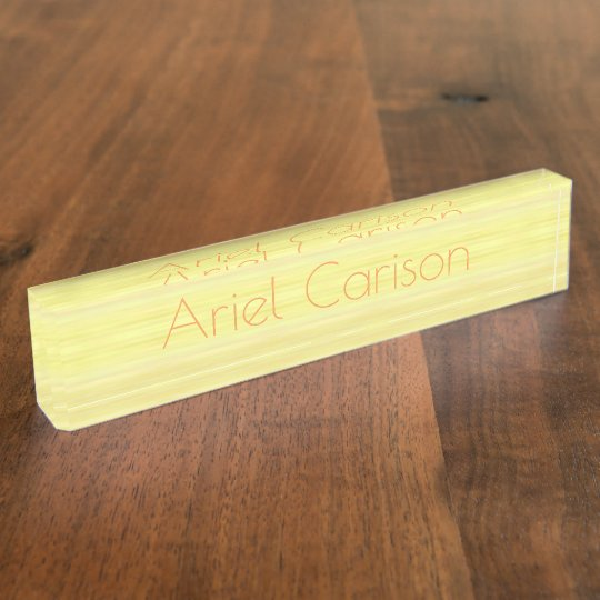 HAMbyWG - Desk Name Plate - Washed Yellow