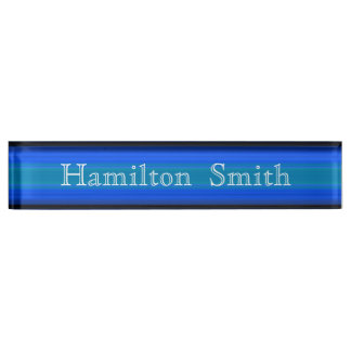 HAMbyWG -Desk Nameplate - Bright Blue Green
