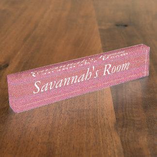 HAMbyWG - Desk Nameplate - Little Girl Pink