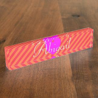 HAMbyWG - Desk Nameplate - Tangerine Sherbert