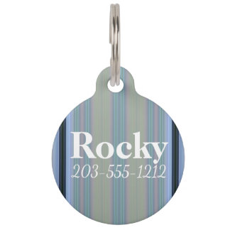 HAMbyWG - Dog Name Tag - Blue Light