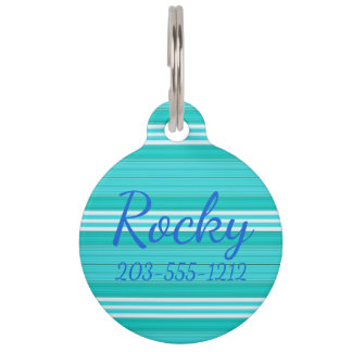 HAMbyWG - Dog Name Tag - Surfer Blue